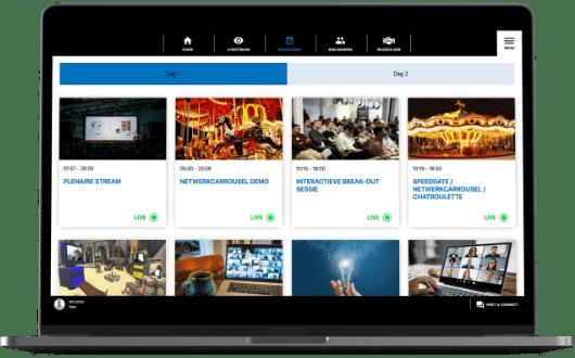 Hèt platform voor fysieke, hybride en online events